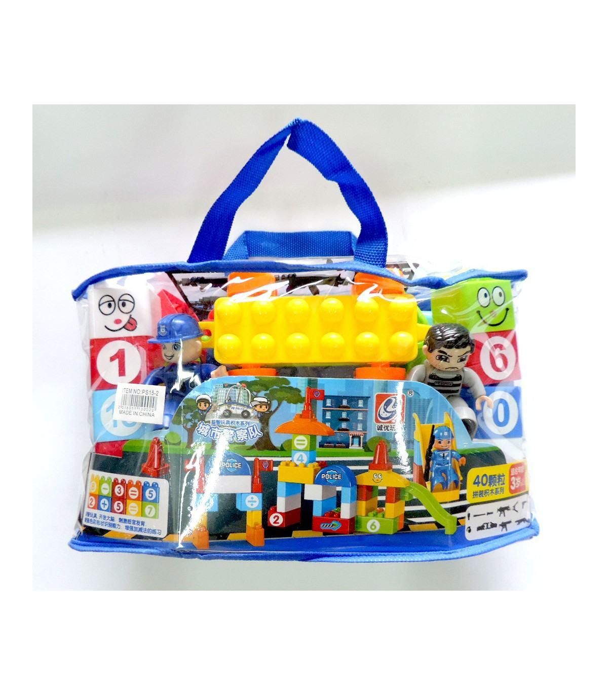 Фотография 1 товарной позиции интернет-магазина детских игрушек www.smarttoys.com.ua Дитячі конструктори Поліція (Police) 40 шт PS15-2