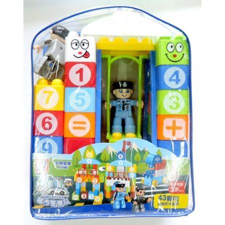 Фотография 1 товарной позиции интернет-магазина детских игрушек www.smarttoys.com.ua Дитячі конструктори Поліція (Police) 43 шт PS15-3