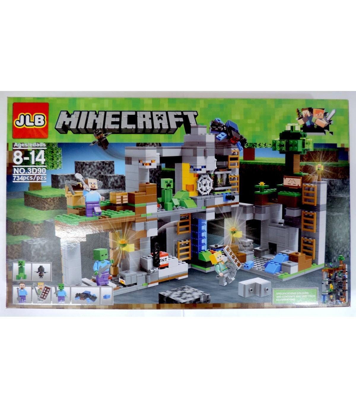 Фотография 1 товарной позиции интернет-магазина детских игрушек www.smarttoys.com.ua Великий конструктор Майнкрафт JLB Minecraft Набір 734 pcs GA7-20