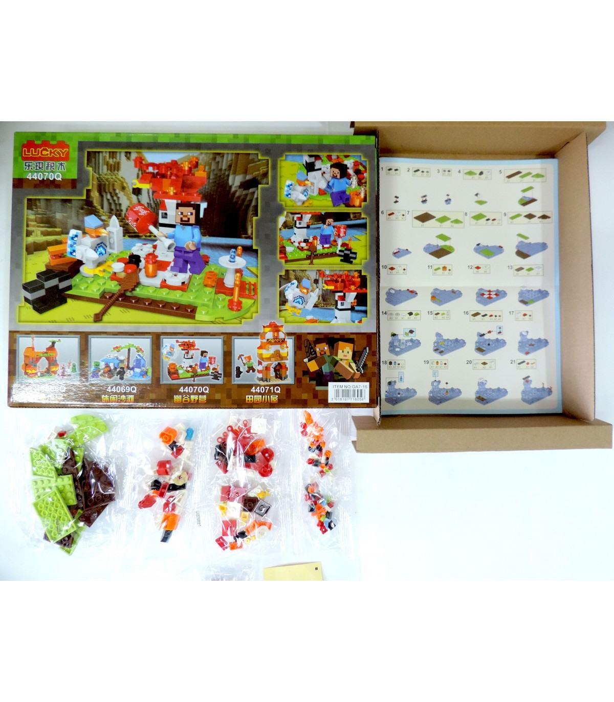 Фотография 1 товарной позиции интернет-магазина детских игрушек www.smarttoys.com.ua Дитячі конструктори Майнкрафт Lucky My Word 165 pcs