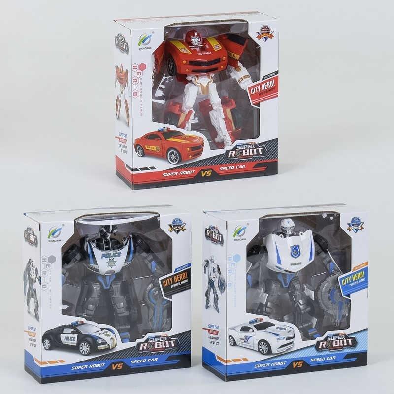 Фотография 1 товарной позиции интернет-магазина детских игрушек www.smarttoys.com.ua Трансформер 338-32 (72/2) 3 види, в коробці
